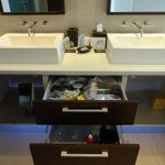 sink area with lots of drawer and cabinet space