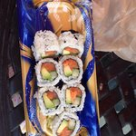 Perfect lunch to go from sushi bar
