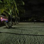 Courtyard beach at night