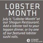 Join us for Lobster month on now!