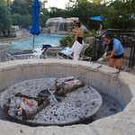 Great fire pit for the evenings... with smores