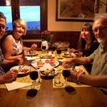 Diners from England and New Zealand