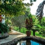 Jardim e vista panorâmica - Hotel de Lençóis