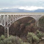 Rio Grand river bridge over the gorge just before a great thunder storm.