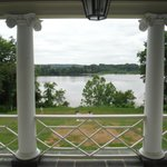 View from upstairs balcony overlooking Rappahannock River