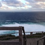 Facing the Southern Ocean - great views & gusty wind