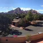 View of Red Rocks from Terrace outside rooms