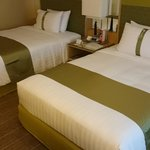 Comfortable beds with pillows from the menu