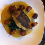 Curried cod with garlic Dahl