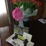 Flowers and sweet treats from concierge!