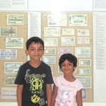 My son & daughter at Coin/Money Museum
