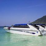 Grand Sea Boat waiting in the Manggo Bay