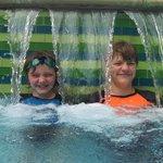 waterfall in the pool :)