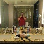 bathroom sinks & mirror & me