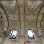 Izaak Synagogue Baroque ceiling by Francesco Olivierri - stitched pan