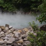 steam arising from thermal valley