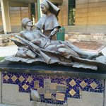 Monument depicting the pain and suffering of war.