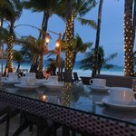 outside dining by the beach