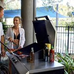 Cook up a storm on one of the four BBQs located around the complex.
