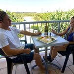 Enjoy a wine on the balcony of our one bedroom apartments.