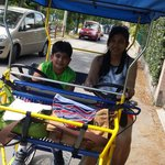 Cycle rickshaw to move freely on the island...