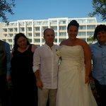 Our wedding day fantastic.