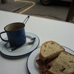 Bacon sandwich and a cup of tea