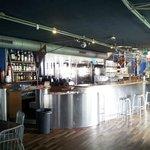 View of bar & restaurant when walking in