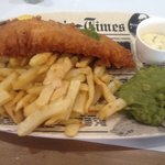 Regular size cod and chips - yummy!!