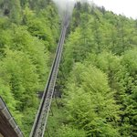 The funicular tracks up the hill