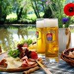 idyllischer Biergarten