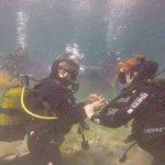 demande de fiancialle sous l'eau