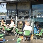 ENJOY A COFFEE OR LUNCH BEFORE THE FERRY