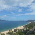 Utsikt fra hotellrommet.