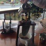 Authentic coffee preparation