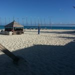 volleyball courts infront of the sailing shack!