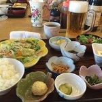 野菜炒めチャンプルー定食
