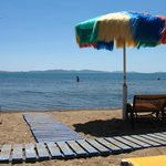A private beach