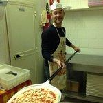 Preparazione pizza!