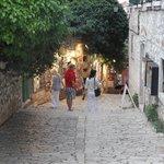 street in rovinj town