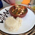 riz, curry, amandes