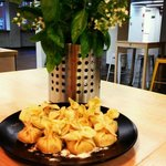 Sachetti de gorgonzola, pera y nueces