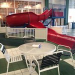 My 5 year old LOVED this awesome slide...not going to lie, their daddy and I did too!��