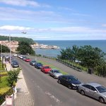 the view of Scarborough town from our balcony