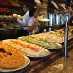 Wide selection of desert and salad bar