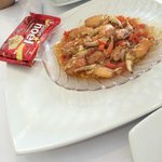 Crab pincers (claws)! Amazing, and the souce.....