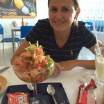 Local appetizer... Ceviche, which is raw seafood
