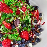 Fresh Berries and Goat Cheese Salad