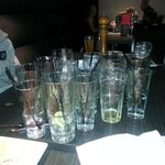 waitress replied, not sure i should take empties away when leaving the table ?