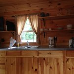 Kitchenette - H24 Cottage has Microwave and Small Refrigerator